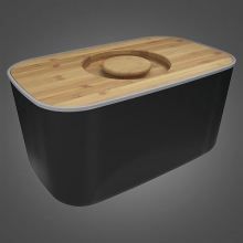 Фото Хлебницы Joseph Joseph Steel Bread Bin Black (80045)