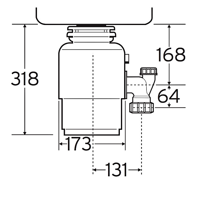 Чертеж  In-Sink-Erator Model 56